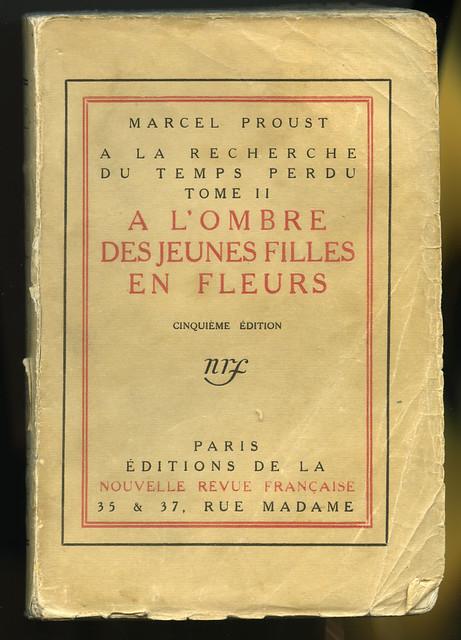 7-COUV A l'ombre des jeunes filles en fleur 30.11.1918-Archives Gallimard