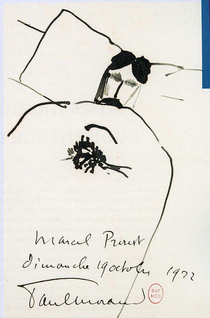 13-Paul Morand, portrait de M.Proust sur son lit de mort novembre 1922-BNF