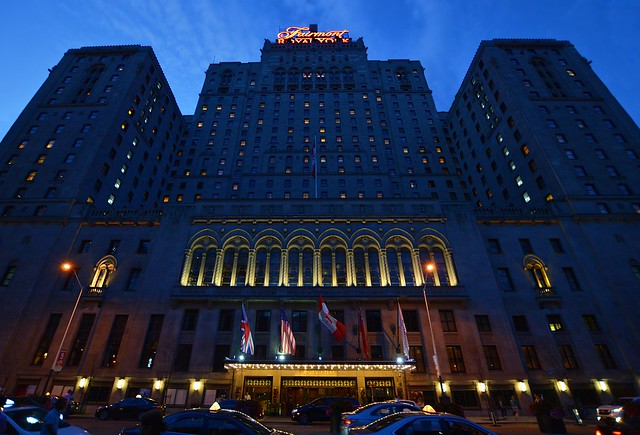 Blue Hour At The Fairmont Royal York Hotel .... 100 Front Street West .... Toronto, Ontario