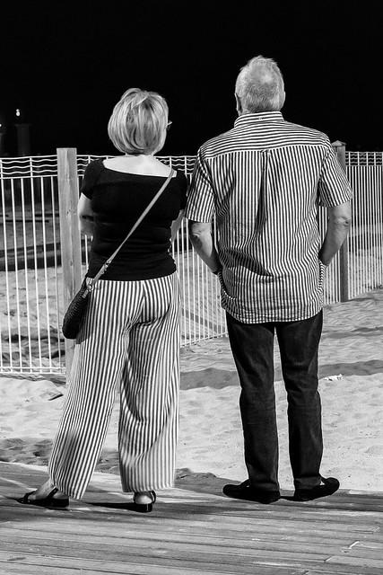 black and white stripes....