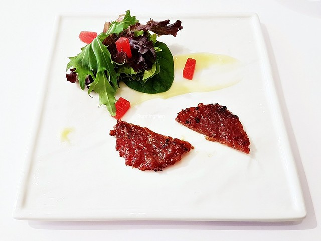 Bak Kwa Pork Coin & Salad