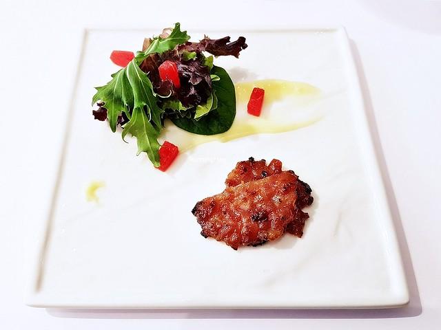 Bak Kwa Chicken Coin & Salad
