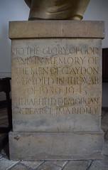 Claydon war memorial (Henry Moore, 1948)