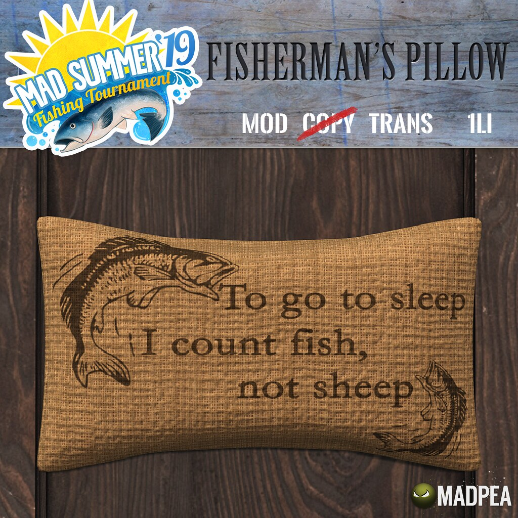 MadPea Mad Summer '19 Fishing Tournament Shiny: MaPea Fisherman's Pillow!
