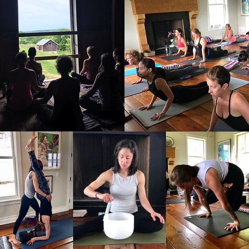 yoga at farmhouse