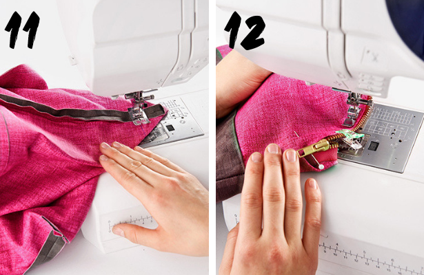 DIY Cosmetic Bag STEPS 11 12