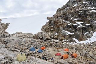 Campamento Alto Tocllaraju (5100m)