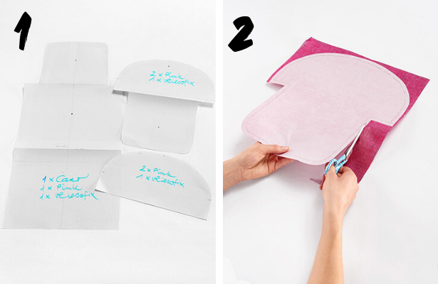 DIY Cosmetic Bag STEPS 1 2