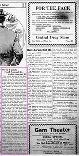 2019-08-02. Wood, News, 8-23-1923