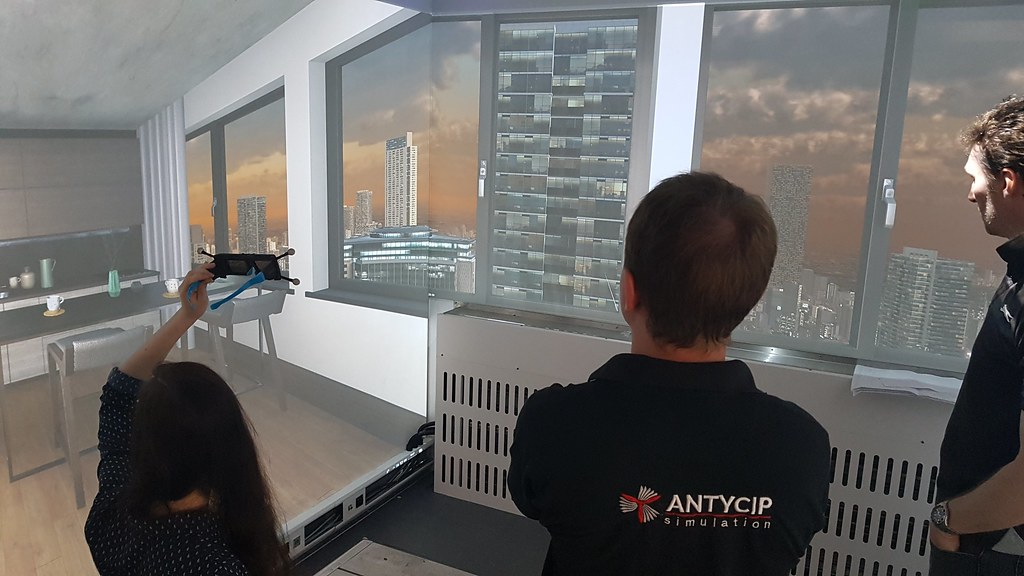 VSimulators will feature sophisticated virtual reality projectors
