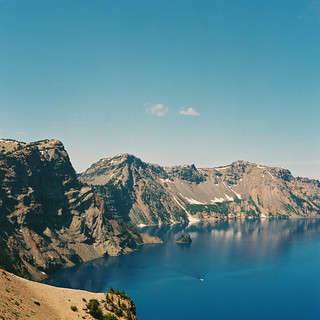 Crater Lake with Phantom Ship Island