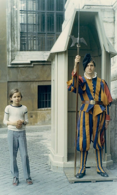 Matti Amnell (Jr) 10 years old  in Rome.