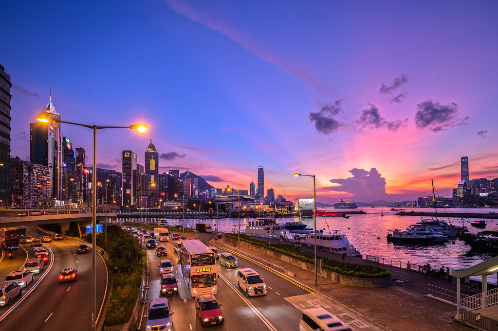 The Sunset Glow at Causeway Bay, Hong Kong