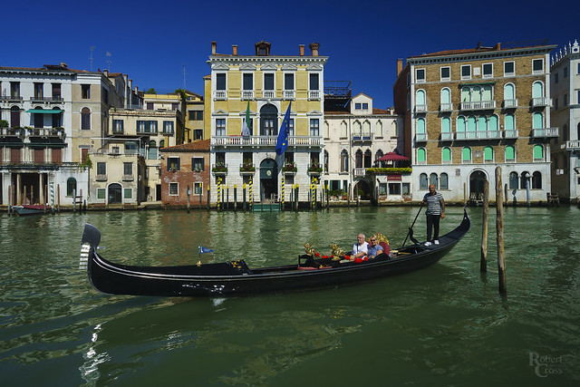 Typical Venetian Gondola Scene