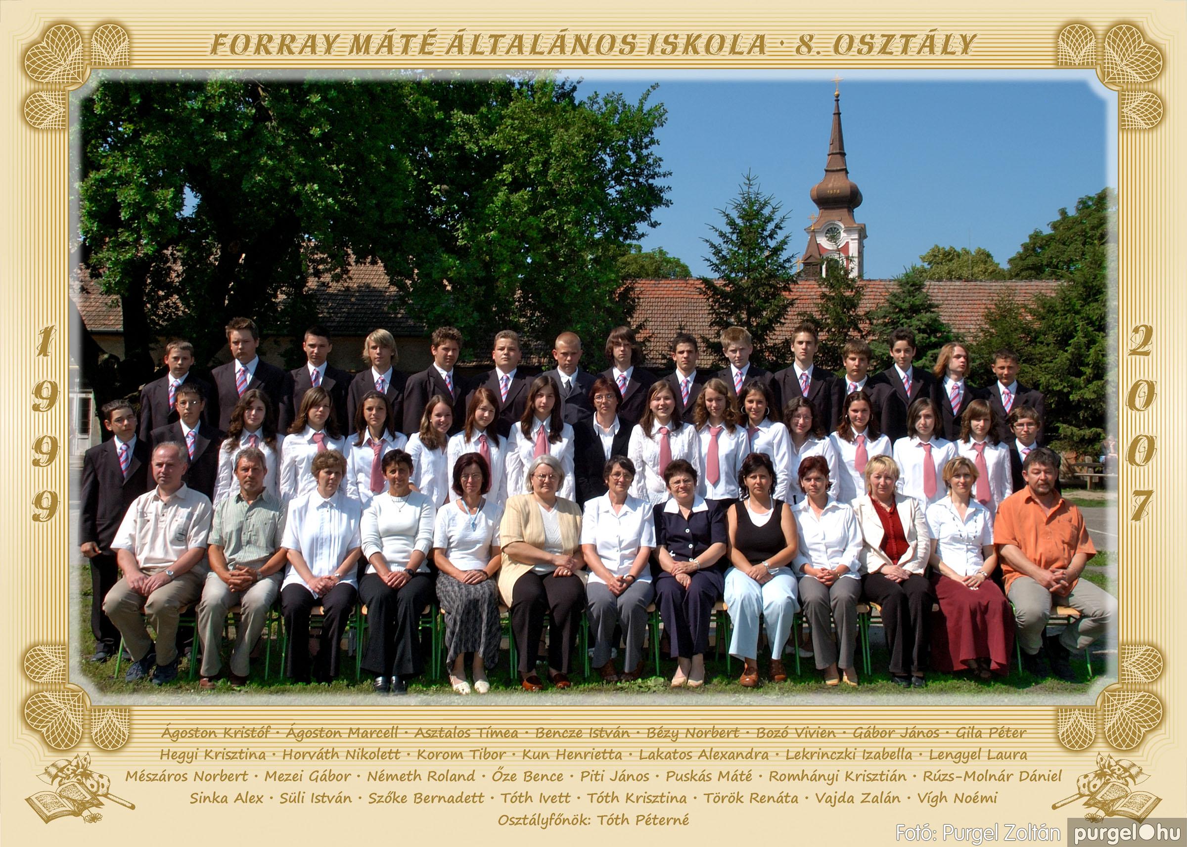 2007.03.20-06.01. 028 Forray Máté Általános Iskola osztályképek 2007. - Fotó:PURGEL ZOLTÁN© 8osztaly.jpg