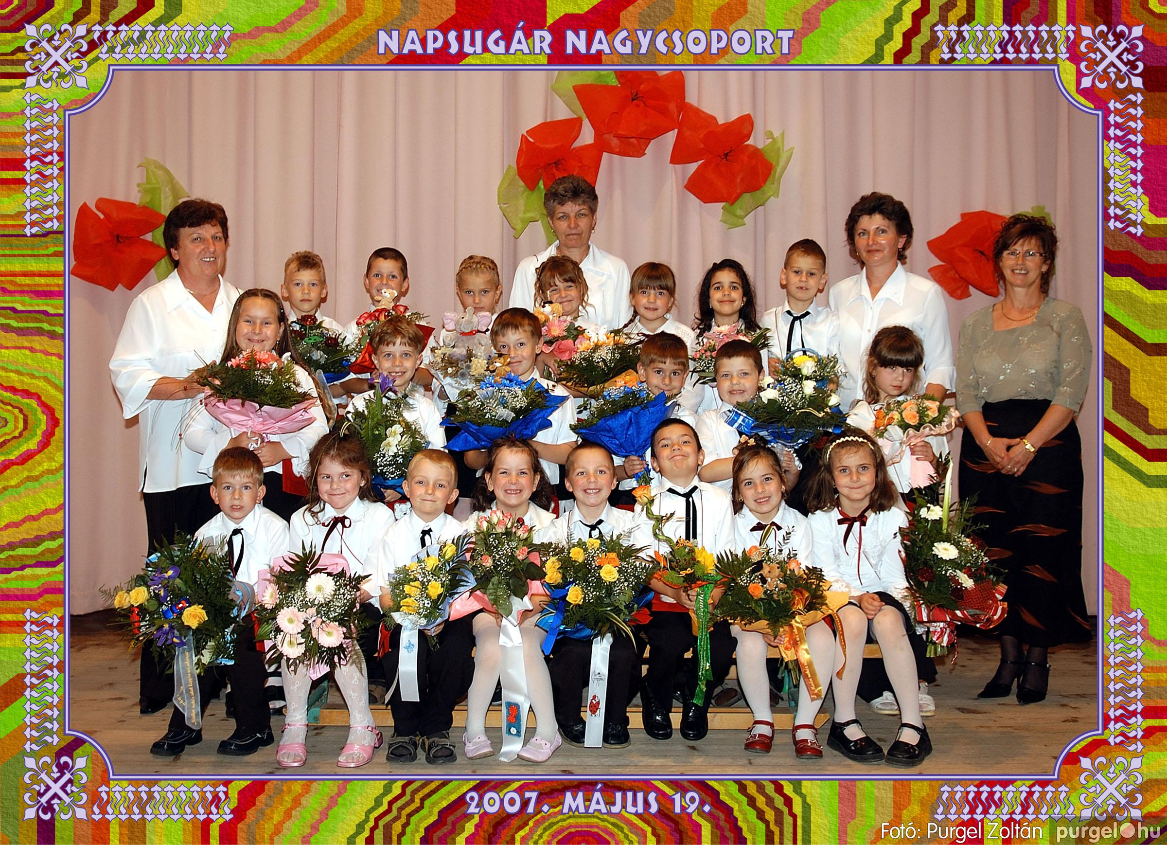 2007.05.10-19. 014 Kurca-parti Óvoda csoportképek 2007. - Fotó:PURGEL ZOLTÁN© 452Napsugár.jpg