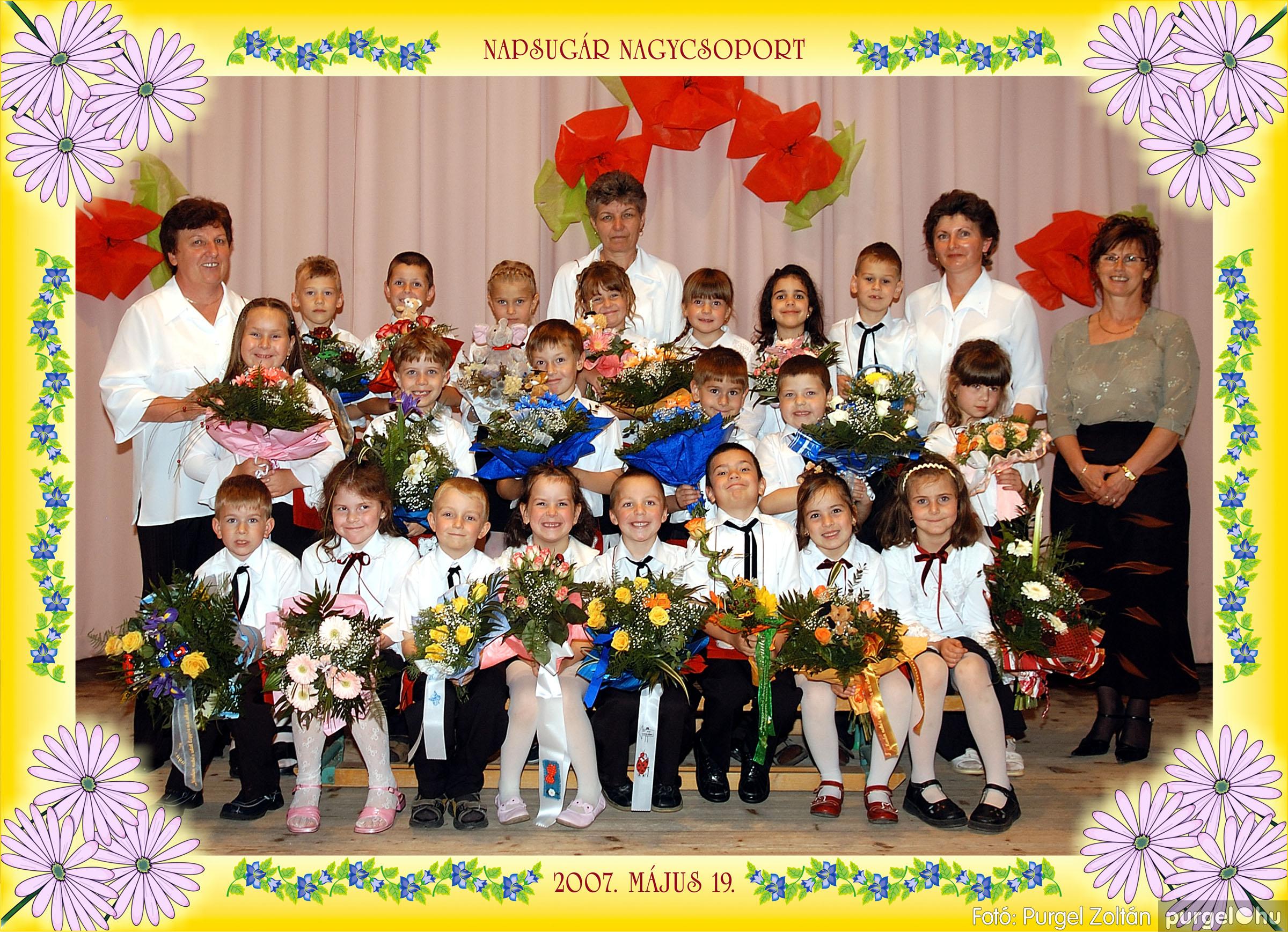 2007.05.10-19. 013 Kurca-parti Óvoda csoportképek 2007. - Fotó:PURGEL ZOLTÁN© 451Napsugár.jpg