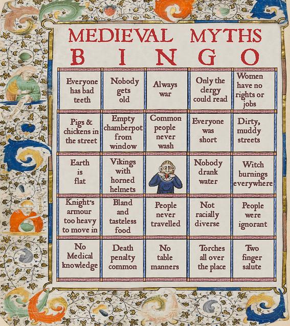Medieval myths bingo