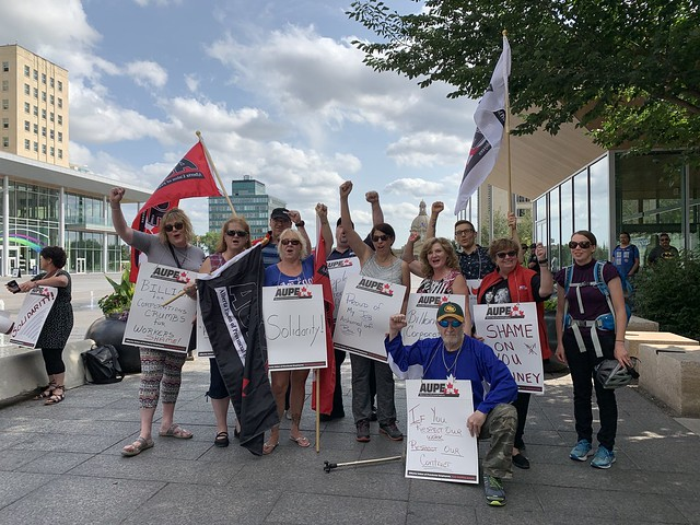 AUPE Rally Against Bill 9