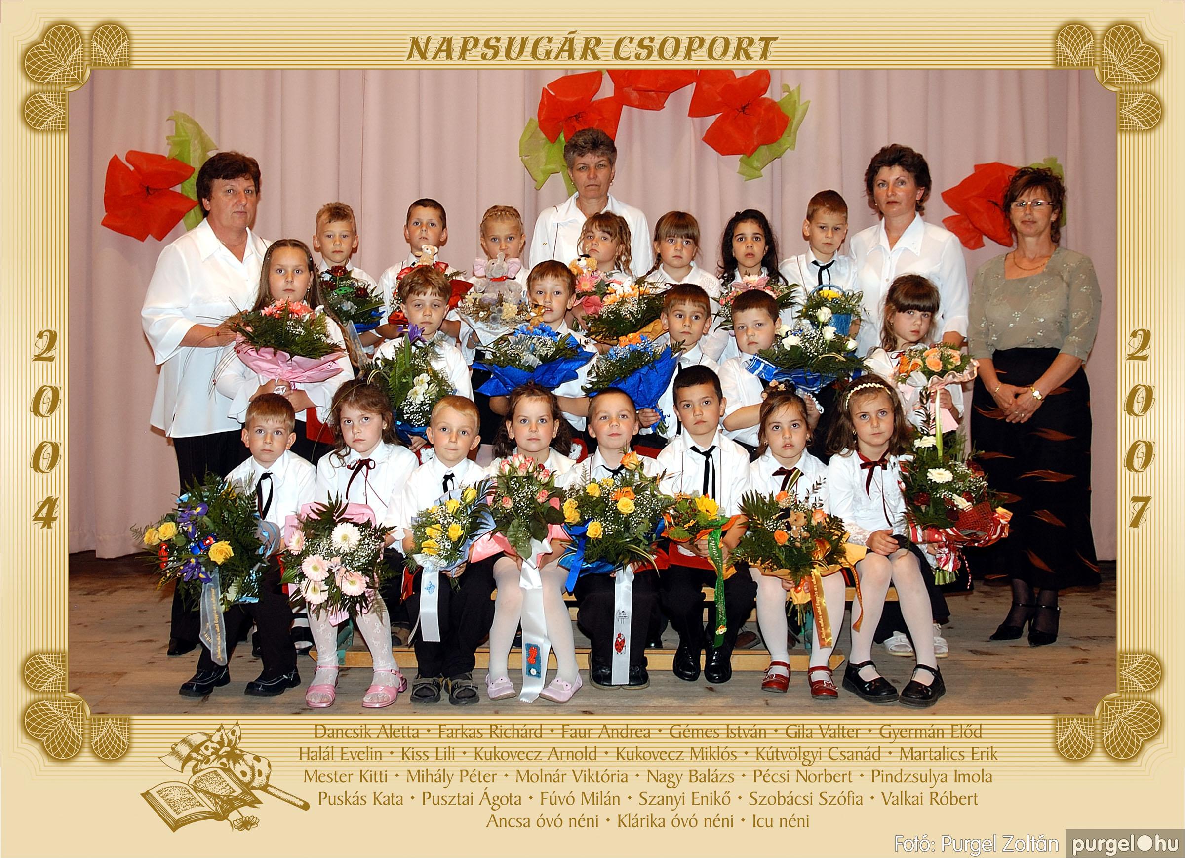 2007.05.10-19. 017 Kurca-parti Óvoda csoportképek 2007. - Fotó:PURGEL ZOLTÁN© 455Napsugár.jpg