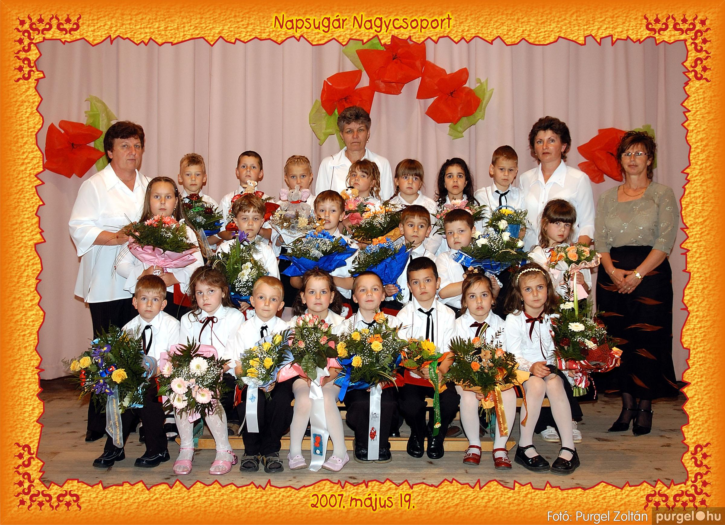 2007.05.10-19. 015 Kurca-parti Óvoda csoportképek 2007. - Fotó:PURGEL ZOLTÁN© 453Napsugár.jpg