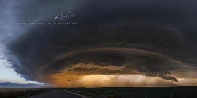 Mothership Thunderstorm sunset