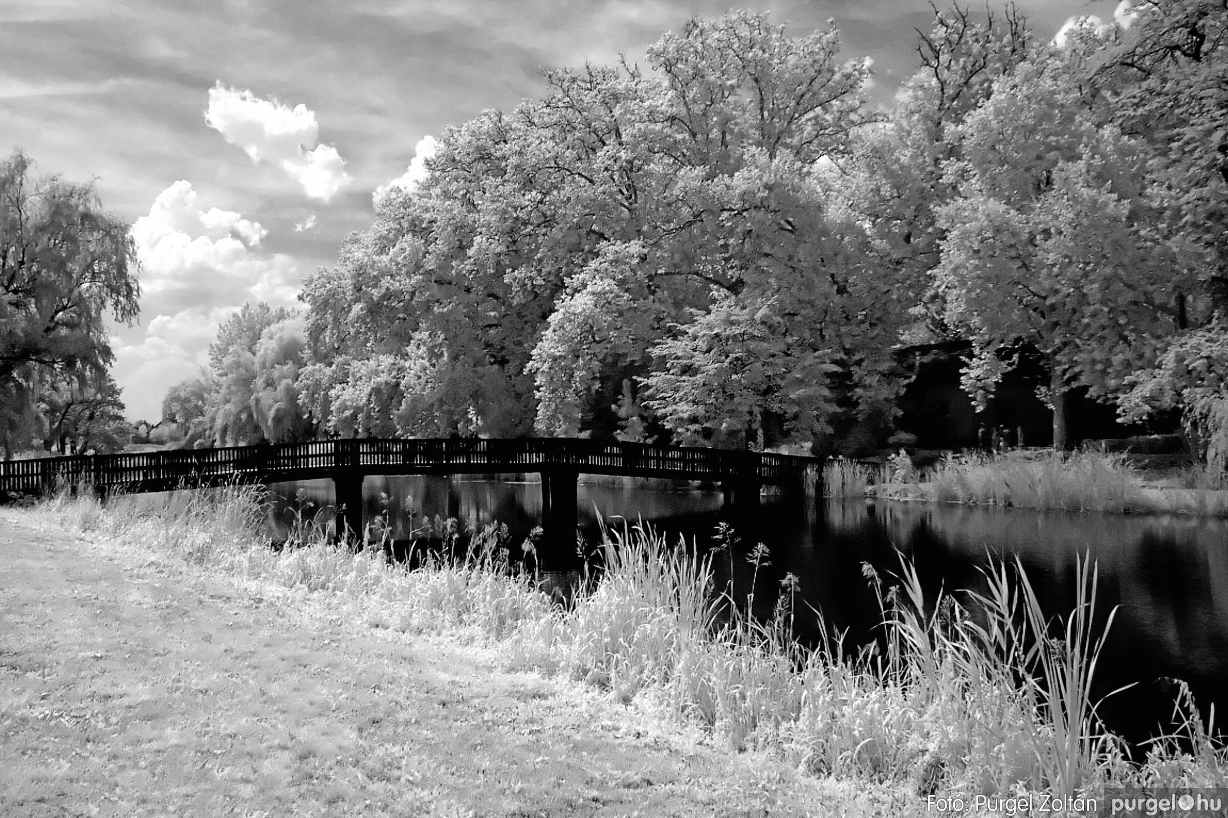 047 Örök pillanatok fotókiállításom képei - Fahíd (infravörös) · Wooden bridge (infrared) - Fotó:PURGEL ZOLTÁN©.jpg