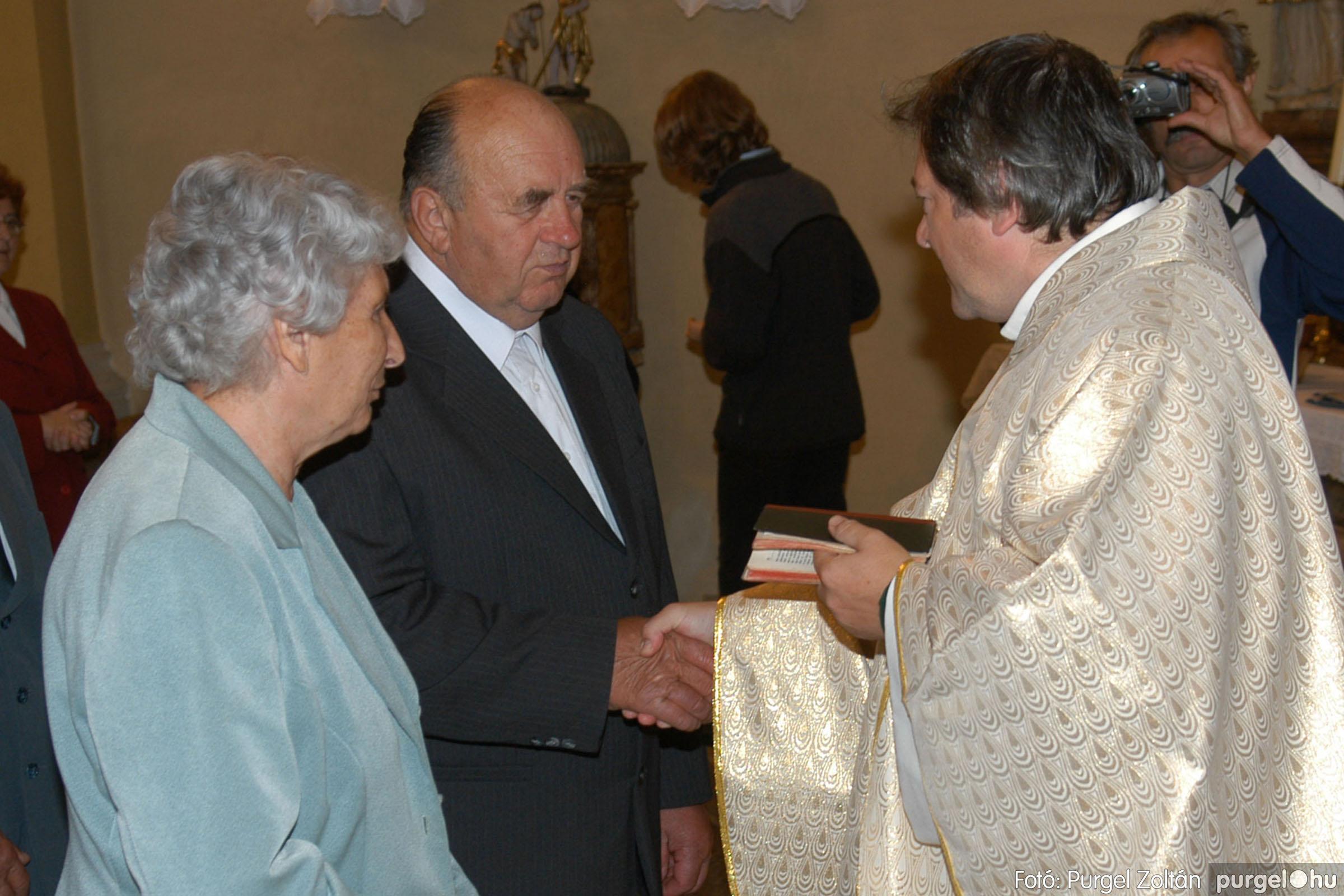 2007.09.30. 037 Kisboldogasszony Templom házassági évfordulók - Fotó:PURGEL ZOLTÁN© DSC_0149q.jpg