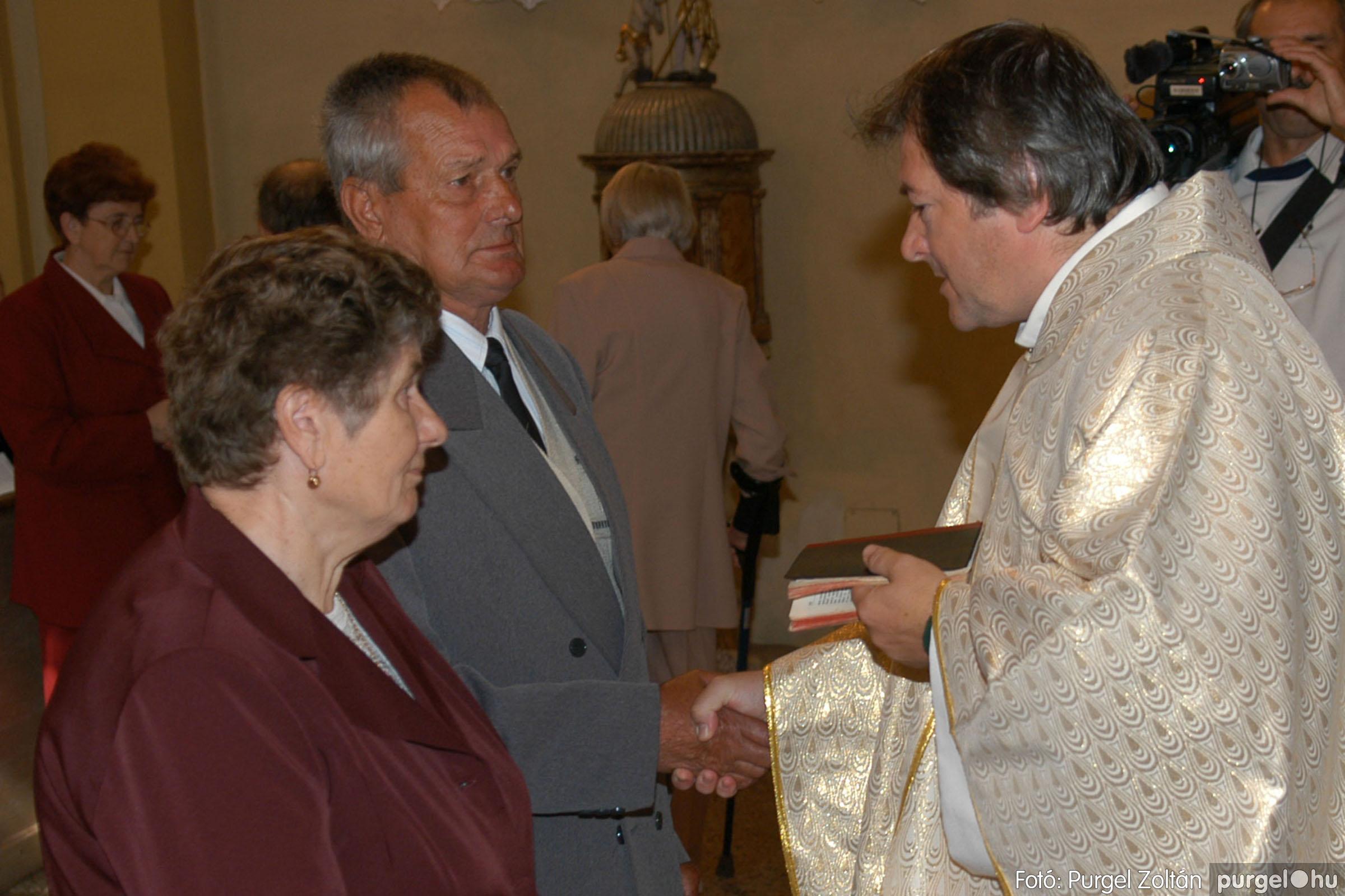 2007.09.30. 047 Kisboldogasszony Templom házassági évfordulók - Fotó:PURGEL ZOLTÁN© DSC_0159q.jpg