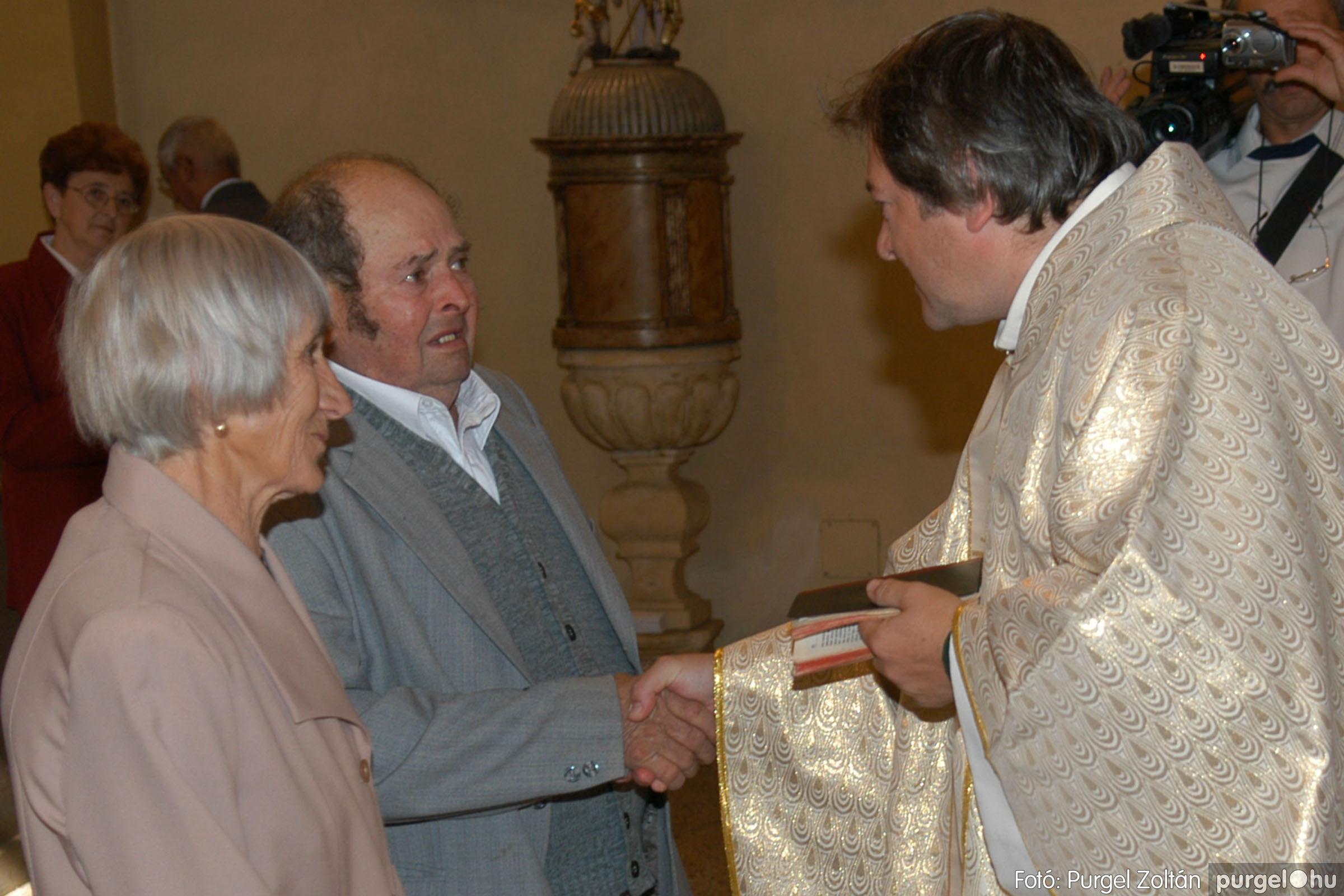 2007.09.30. 045 Kisboldogasszony Templom házassági évfordulók - Fotó:PURGEL ZOLTÁN© DSC_0157q.jpg