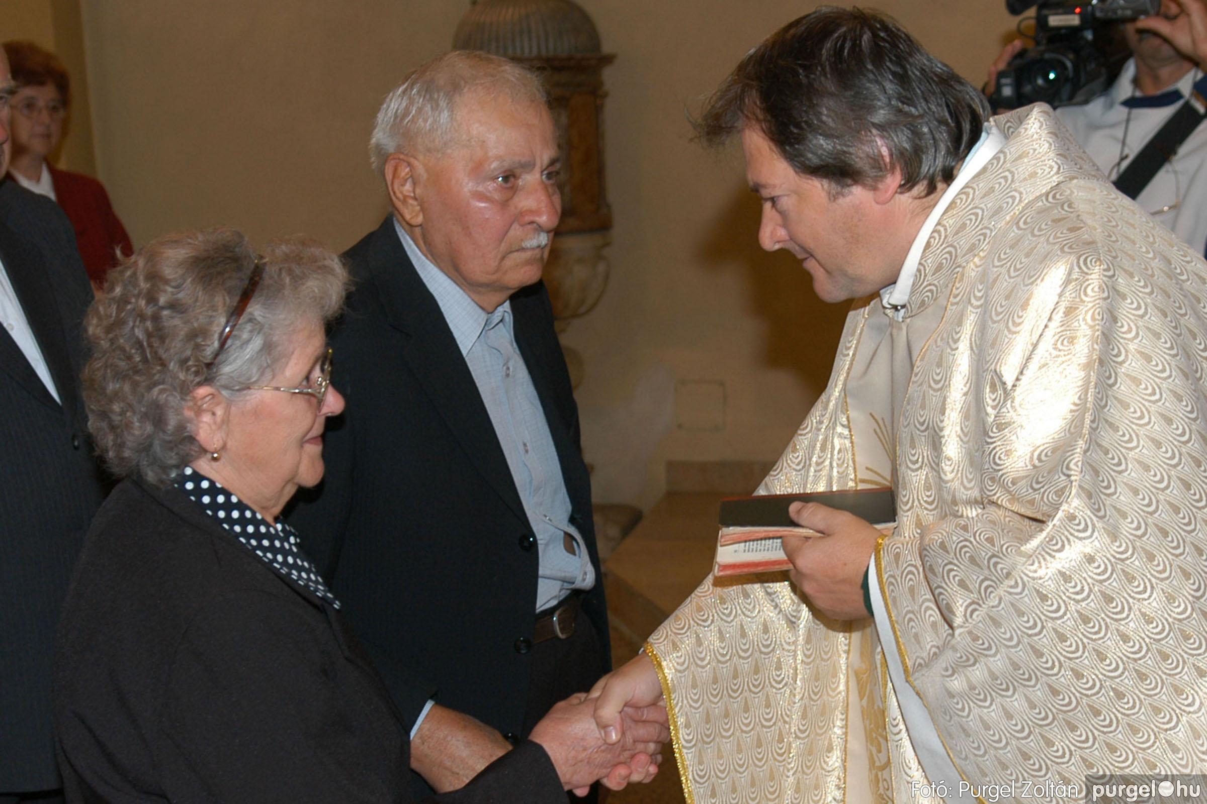 2007.09.30. 036 Kisboldogasszony Templom házassági évfordulók - Fotó:PURGEL ZOLTÁN© DSC_0148q.jpg
