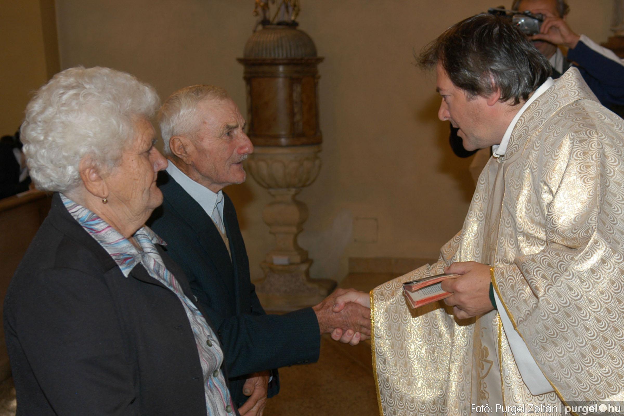2007.09.30. 027 Kisboldogasszony Templom házassági évfordulók - Fotó:PURGEL ZOLTÁN© DSC_0139q.jpg