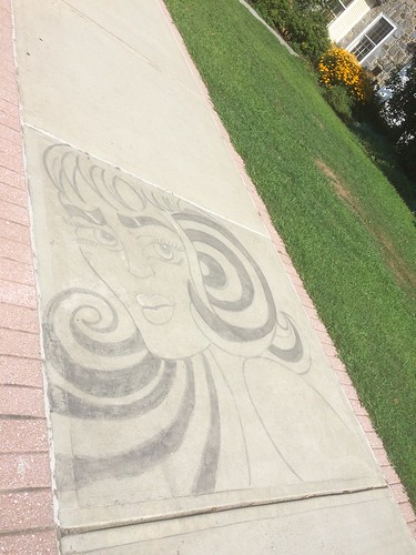 sidewalk art, Amherst MA