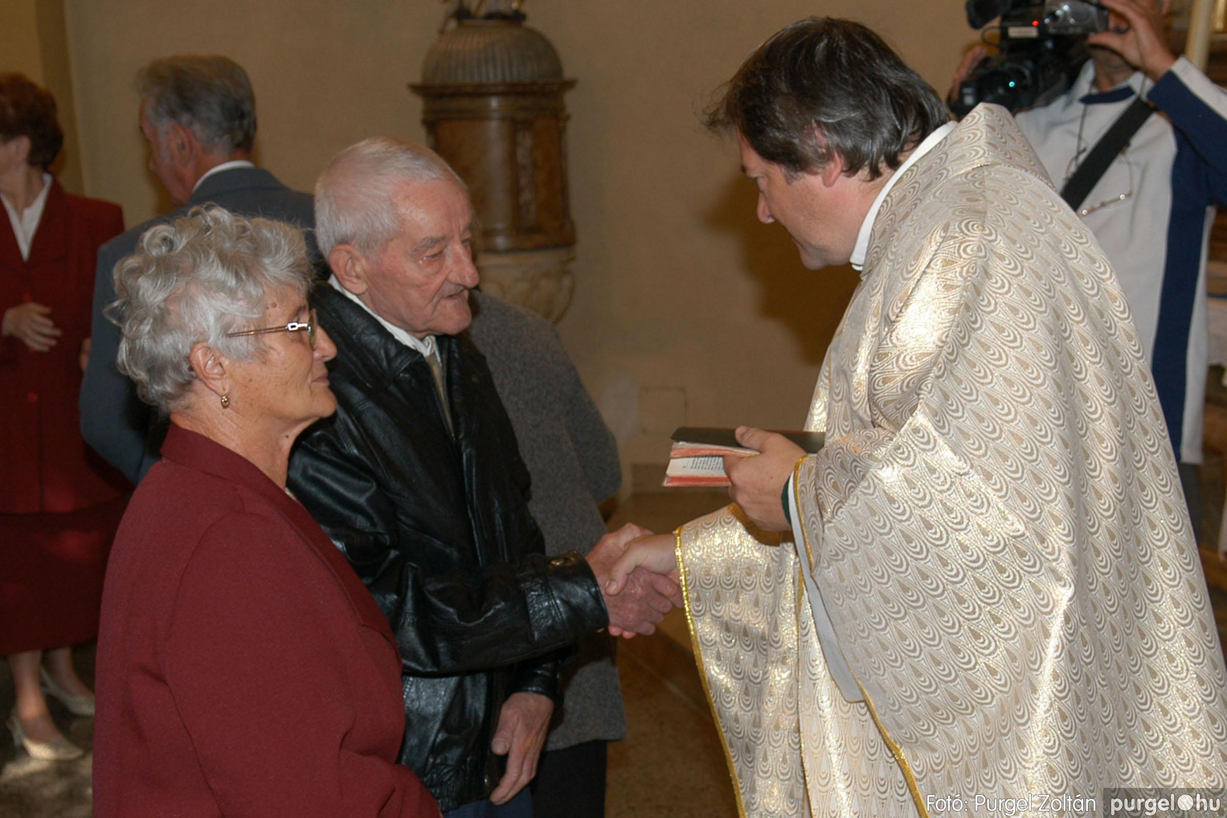 2007.09.30. 041 Kisboldogasszony Templom házassági évfordulók - Fotó:PURGEL ZOLTÁN© DSC_0153q.jpg