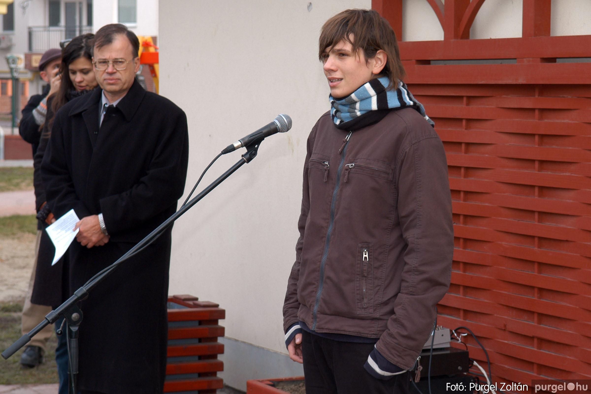 2007.11.30. 001 Rózsa Gábor tér avatása Szentesen - Fotó:PURGEL ZOLTÁN© DSC_0260q.jpg
