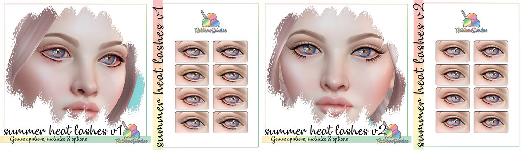 *Rainbow Sundae* Summer Heat Lashes