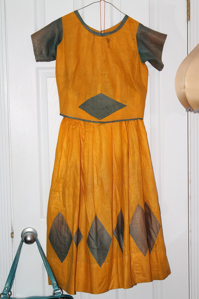 Hand Sewn Antique Halloween dress and jacket with matching hat