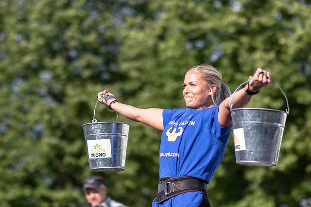 Strongest woman competition in Kuopio