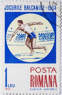 Roumania Balkan Games 1964 Discus