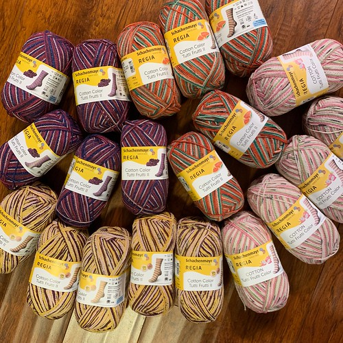 Re-stocked and 2 new colors of Regia Tutti Frutti Color