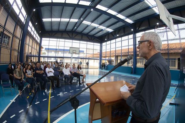 Inauguração da quadra poliesportiva na unidade de Arapongas