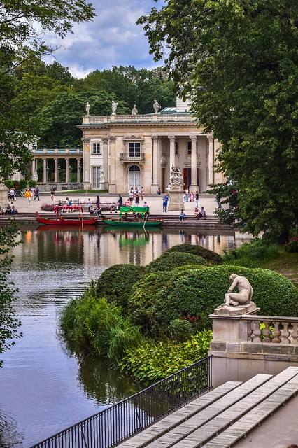 Warsaw - Łazienki Park - Palace on the water