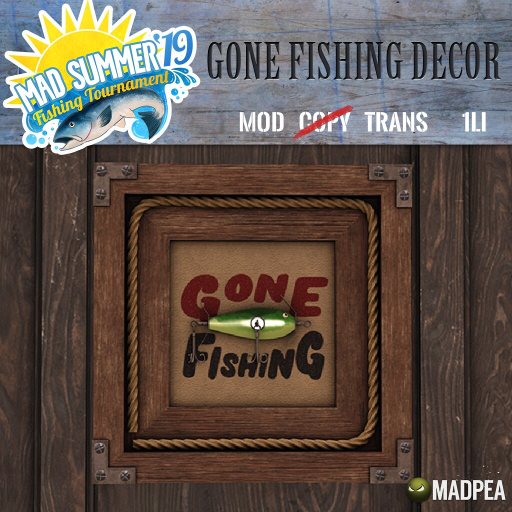 MadPea Mad Summer '19 Fishing Tournament Shiny: Madpea Gone Fishing Decor!