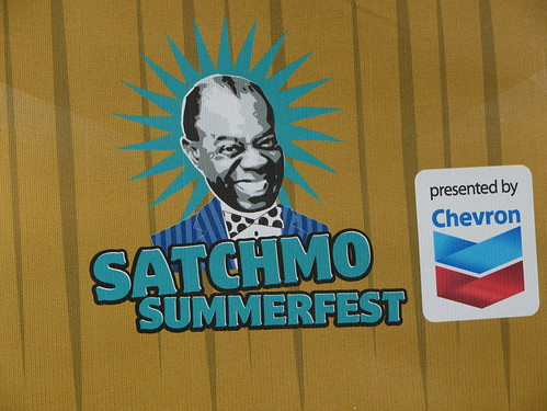 Satchmo SummerFest logo at Satchmo Summer Fest - August 2, 2019. Photo by Louis Crispino.