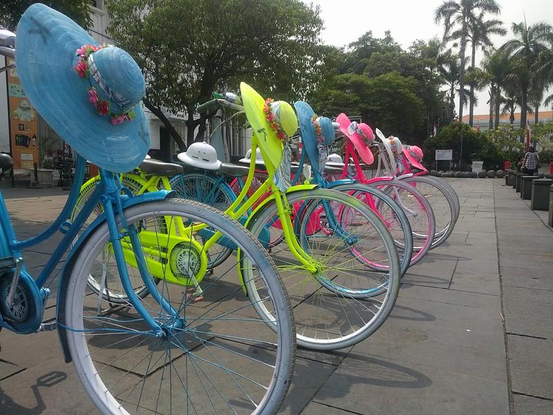 Bicicletas en Kota Tua - Yakarta