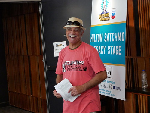 Satchmo volunteer at Satchmo Summer Fest - August 2, 2019. Photo by Louis Crispino.