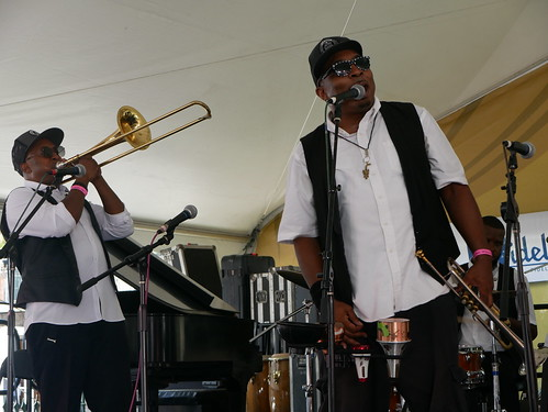 Preservation Brass at Satchmo Summer Fest - August 2, 2019. Photo by Louis Crispino.