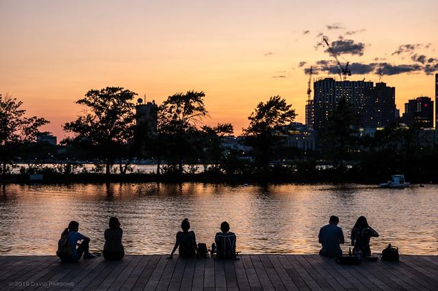 Sunset on the Esplanade Lagoon