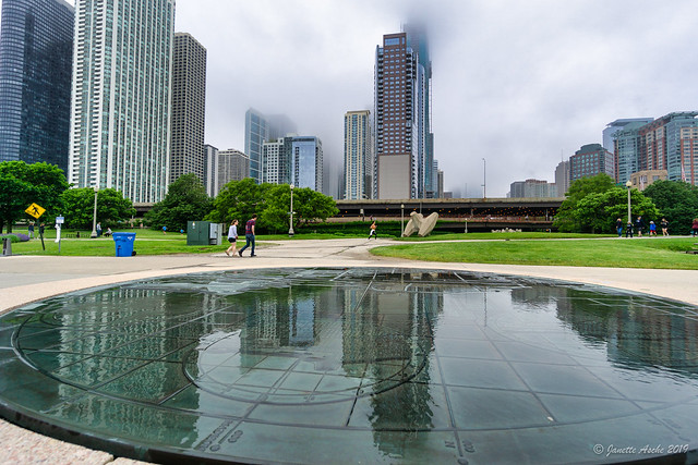 After rain, Lakefront Path, Chicago