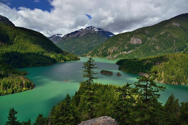 Diablo Lake Nestled in the Heart of the North Cascades (North Cascades National Park Service Complex)